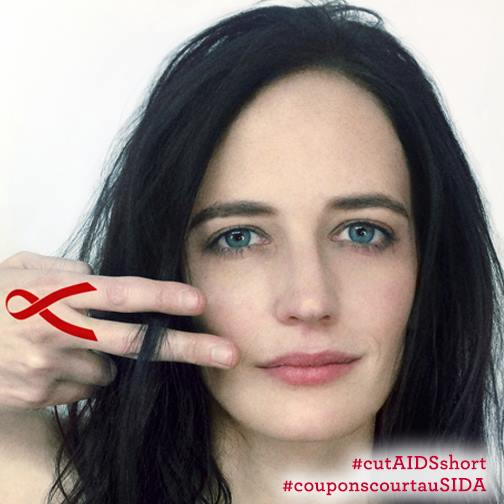 Eva Green for #cutAIDSshort with L'Oréal and Coiffeurs Contre Le ...