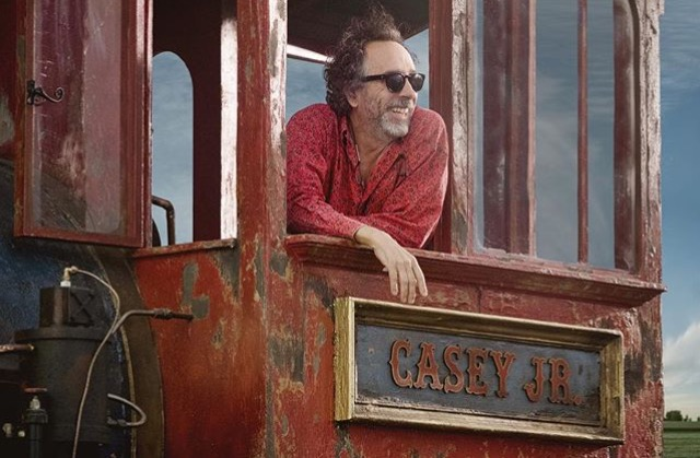 Tim-Burton-On-Set-of-Dumbo